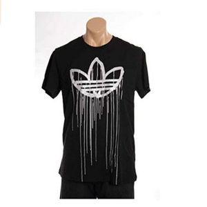 NWT Adidas Mens Black Logo T-Shirt L